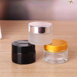 Siyah gümüş altın kapak ve iç yastık krem şişesi SZ439 ile Zarif kozmetik boş kavanoz kavanoz göz farı makyaj kremi konteyner şişesi,