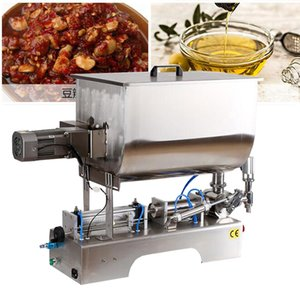 stainless steel mixing filling machine for tomato sauce bean paste with particles peanut butter pneumatic filling machine