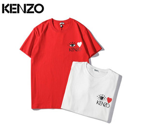 Hochwertige Luxus Designer Bekleidung Klassisch Bedruckte Tigerauge Paar aape T-Shirts kenz Alphabet Embroidery Tees