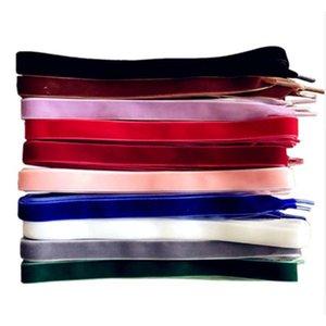 Yeni Moda Unisex Kadife Dantel 10 Renkler Ayakkabı Bağcıklar Tek Taraf Çok Renkli Yüksek Kalite Elastik Spor Shoestrings 120cm 1 çift