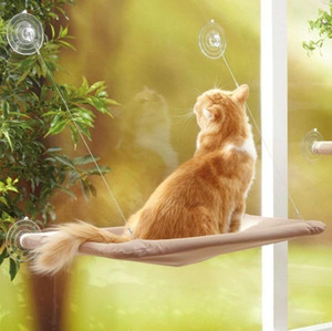 Cute Pet Hanging Beds Bearing 20kg Cat Sunny Seat Window Mount Pet Cat Hammock Comfortable Cat Pet Bed