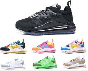 2020 Reagir 72c Designer Sneakers Triplo Branco Preto Runner-de-rosa sapatos Og MensTrainers Polca-ponto oco superior de borracha Almofada Shoes