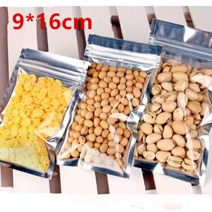 9*16cm Translucent Reclosable Smell Proof Packaging Mylar Bag Aluminum Foil Zipper Food Snacks Gift Showcase Heat Seal Laminating Package