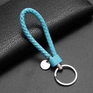DHLFree 115pcs Porte-clés de Tressé PU corde en cuir tissé à la main en cuir clé chaînes porte-clés Porte-anneau pour voiture Porte-clefs