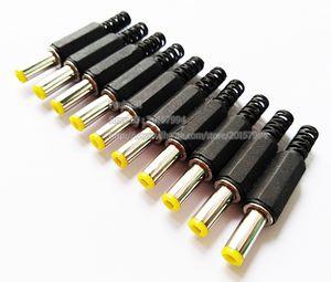 Jaune pointe DC 5.5 * 2.1 mm mâle couvercle en plastique Connecteur Adaptateur, DC 5. 5x2. 1mm Power Jack Plug / Livraison Gratuite / 100 pcs