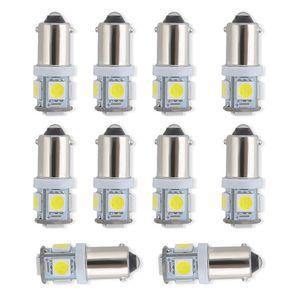 100PCS 차 빛 T11 BA9S 5050 5SMD LED WHITE 자동차 사이드 웨지 번호판 테일 라이트 독서 램프