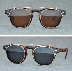 Marka Lemtosh clip-Erkekler Kadınlar için Yuvarlak Güneş Gözlüğü Polarize Güneş Gözlüğü Gözlük Çerçeveleri Orijinal Kutusu ile ...