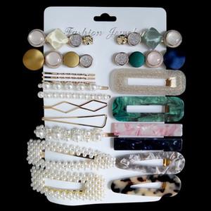 Pearl Painpin Set Коллекция Мода Амазонка Акриловая кислота Зажимы для волос Сочетание Рождественские Подарочные Женщины Ювелирные Изделия