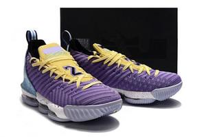 Nuevo diseño lebron 16 Heritage Atomic Violet Bicycle amarillo hombres zapatos de baloncesto de buena calidad James 16 Mens Athletic Designer Sports shoes