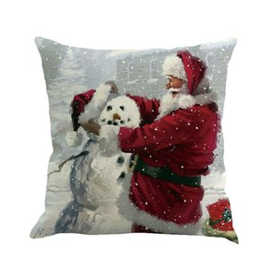 Christmas Printing Dyeing Sofa Bed Home Decor Pillow Cover Cushion Cover bathroom accessories toilet paper holder bathroom #W