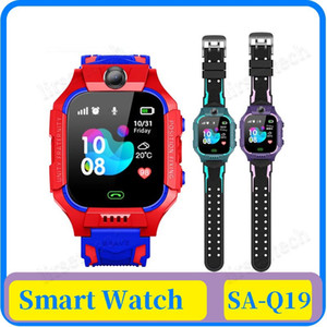 Q19 SOS Smart Camera Montre Bébé LBS Position Lacation Tracker intelligent enfants regardent le chat vocal enfants Lampe de poche VS Q100