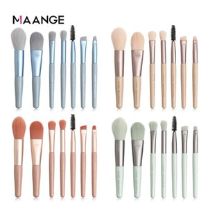 Maange PCS 7 Pinceaux Kit nylon Maquillage des yeux Pinceau Smokey Maquillage Ombre à paupières Pinceau