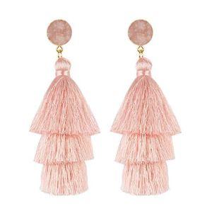 Fashion bohemia long tassel earring for women CX200706