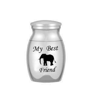 Cremation Urns Ashes Holder Keepsake Lovely Elephant Memorial Mini Urn Jar Funeral Urn Pendant My Best Friend 25x16mm