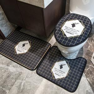 Cubos de asiento de baño creativo Cubiertas de asiento impresas de moda impresas sin deslizamiento Matetas de baño Personalidad Inicio de baño de baño Caja de inodoro