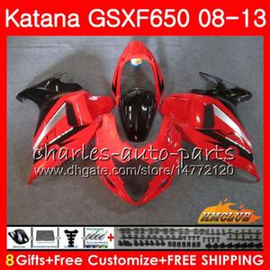 Kit Pour SUZUKI KATANA GSXF 650 GSX650F 08 09 10 11 12 13 14 18HC.13 GSXF-650 GSXF650 rouge clair 2008 2009 2010 2011 2011 2012 2013 2014 2014 Carénage