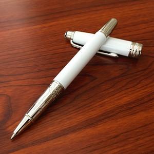 لوازم فاخرة MB القلم الأبيض برميل الرول الكرة القلم القرطاسية مكتب مدرسة العلامة التجارية أقلام مع الرقم التسلسلي