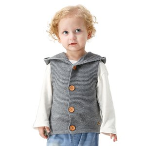 Infants Baby Winter Hooded Sweater Newborn Collar Knitted Vest Baby Boys Girls Cardigan Christmas Clothes