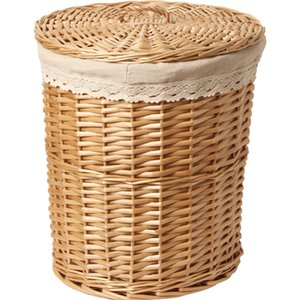 Wicker dirty basket hamper frame storage box hot pot shop weaving clothes T200224