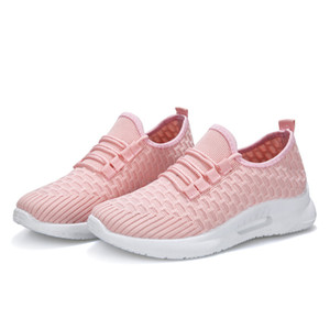 2019 New Tennis Shoes Woman Summer Black Pink White Breathable Women Shoes Female Platform Sneakers Chaussure Femme Tenis Mujer