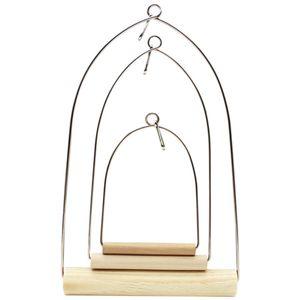Новый попугай птица взгромоздился птица рамка деревянные качели Качели смешные птица клетка игрушка зоотовары FSF0013