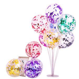 New 12 polegadas Lantejoula látex Balão Moda Sequins Cheio Limpar Balões Novidade Kid Toy bonito festa de aniversário do casamento Decoração DBC DH2586