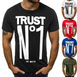 남성 여름 편지 개요의 T 셔츠 슬림핏 캐주얼 인쇄는 보디 빌딩 근육 라운드 넥 NO1 티 셔츠를 대형 크기 M-XXL 탑