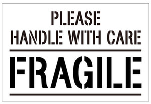 300pcs 6x4cm PLEASE HANDLE WITH CARE FRAGILE Self-adhesive Shipping Label Sticker, 300pcs lot, Item No. SS22