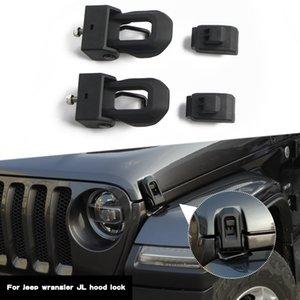 ABS de aço inoxidável capa Tranca Lingueta Trava Decoração Capa Para Jeep Wrangler JL 2018+ Auto Acessórios Interior