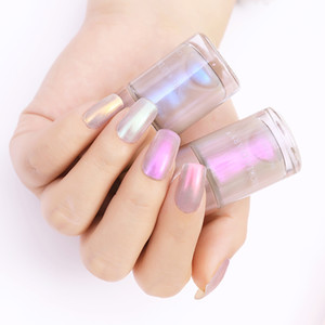 NICOLE DIARY 2Pcs Vernis à ongles Pearl Set Shimmer Glitter vernis à ongles transparent Manucure Shell Art Lacquer Stamp