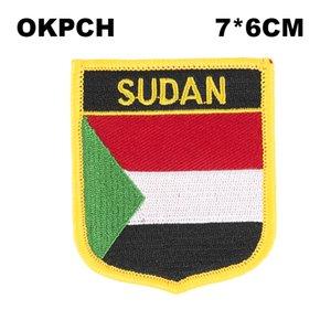 Sudan Flag Stickerei Eisen auf Patch Stickerei Patches Abzeichen für Kleidung PT0167-S