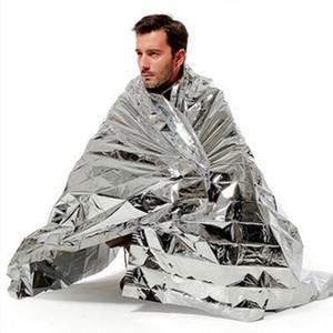 210 * 130cm Silber Wasserdicht Notüberlebens Foil Thermal Erste Hilfe Rettungs-Rettungsdecke Military Blanket Kits Gadgets ZZA573