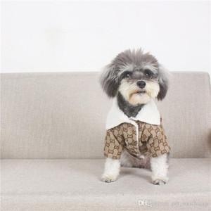 الربيع الدافئة الحيوانات الأليفة معاطف كلاسيكي رسالة مطبوعة أفطس الستر في الهواء الطلق ثخن نمط القطة الأليفة الكلب الملابس