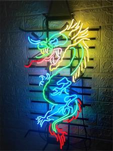 "DRAGON ME0045 COUSTOM NEON SIGN HANDICRAFT LIGHT BEER BAR PUB REAL GLASS TUBE LOGO ADVERTISEMENT DISPLAY NEON SIGNS 17"" 19"" 24''"