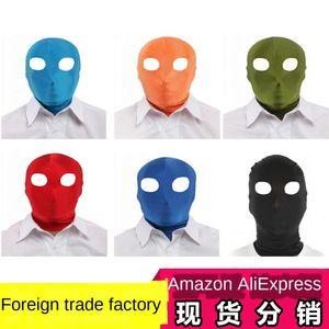Open-eye Lycra head cover Halloween mask cosplay Ball mask all-inclusive tight headgear headgear head cover