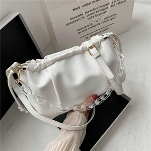 Crossbody Bags For Women 2020 Transparent Acrylic Small PU Leather Female Travel Shoulder Handbags Lady Solid Color
