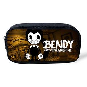 Bendy et les cas machine EncreCrayonAutres enfants Plumier étudiants Cartoon Pen Sacs de grande capacité école de fournitures de papeterie