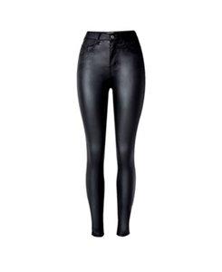 Женщины Черный Sexy PU поножи джинсы Slim Fit гетры высокой эластичностью клуб Стиль Брюки кожаные сапоги Леггинсы