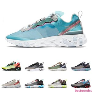 React Element 87 55 running shoes for men women top quality black red Anthracit Royal Tint fashion mens trainers lightweight sports sneakers