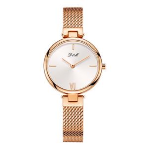 DOM Marka Lüks Kadınlar Kuvars Saatler Minimalism Moda Günlük Kadın Kol Su geçirmez Altın Çelik Reloj Mujer G-1267G-7M2