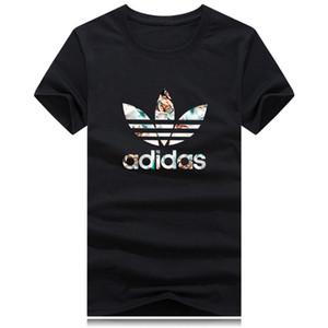 Лето 2019 мужской одежды дизайнер футболка роскошных женщины футболка одежда топ дизайнер популярная монографическая короткий рукав бренд верхней тройник