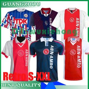 1990 1994 1995 1998 Ajax Retro home away soccer jersey 90 94 95 98 RIJKAARD F.DE BOER DAVIDS R. DE BOER LITMANEN 04 05 football shirt S-XXL