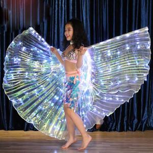 Cosplay Sahne FDC99 için Çocuk Belly Dance Kelebek Kanat Kostüm Şal Peri Performans Giyim