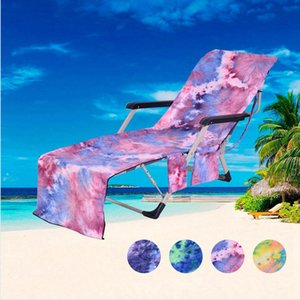 Microfiber Beach Towel Deck Chair Cover Beach Chair Towel Bath Towel Single Layer Blanket Quick-Drying Beach Leisure Chair Cover LJJP05