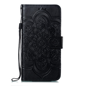 Mandala embossing Cover For Samsung Galaxy A5 2018 A6 2018 A6 Plus A7 2018 A9 2018 Case Flip Stand PU Leather Phone Bags