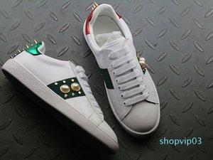 2019 Neue Luxus-Designer Männer Frauen Turnschuhe Freizeitschuhe Mode-Sport-Trainer Qualitäts-rote grüne Streifen Chaussures Gießen Hommes c20