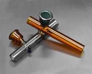 de haute qualité Steamrollers tuyau du brûleur de verre Labs pipe main pas cher de herb sec pipes Cuillère pour dab bongs plate-forme pétrolière