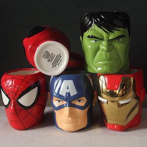 Creative 3D мультфильм Марка Дизайнер 100% Новая чашка молока кофе Керамические Кружки Мода Мститель -Gift Детские Горшок