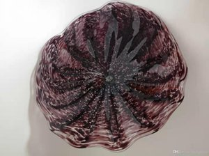 Handmade Wedding Decorative Glass Plate for Walls Wall Decoration BLown Glass Wall Lamp Decorative Murano Glass Plate