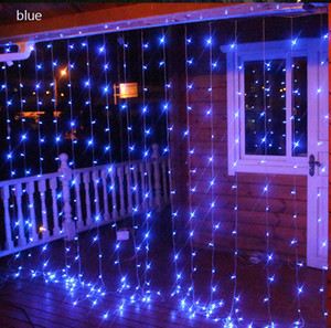 4 * 3Meter 400leds 커튼 LED 문자열 빛 새해 크리스마스 Garlands 요정 파티 정원 웨딩 장식 요정 9 색상 110V 220V